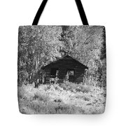 Black And White Cabin Tote Bag