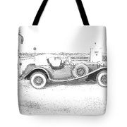 Black And White Car Tote Bag