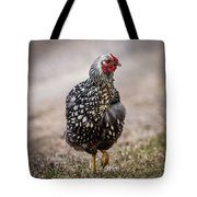 Black And White Chicken Tote Bag