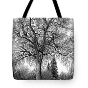 Black And White Christmas Tote Bag