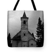 Black And White Church In Williston North Dakota. Tote Bag