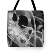 Black And White Clownfish Tote Bag