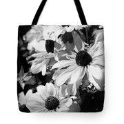 Black And White Coneflowers Tote Bag