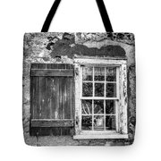 Black And White Cottage Window Tote Bag