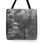 Black And White Country Scene Tote Bag