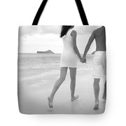 Black And White Couple Tote Bag by Brandon Tabiolo - Printscapes