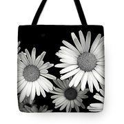 Black And White Daisy 2 Tote Bag