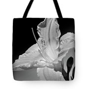 Black And White Daylily Tote Bag