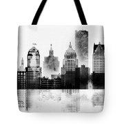 Black And White Detroit Tote Bag