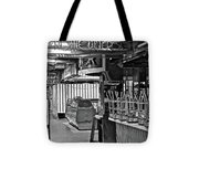 Black And White Diner Tote Bag