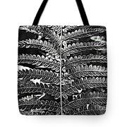 Black And White Fern Tote Bag