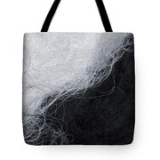 Black And White Fibers - Yin And Yang Tote Bag
