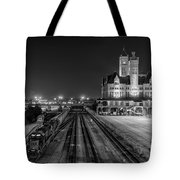 Black And White Fine Art Print Of Union Station In Nashville, Tennessee Tote Bag