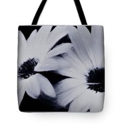 Black And White Floral Art Tote Bag