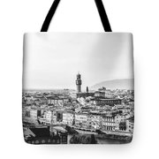 Black And White Florence Italy Tote Bag