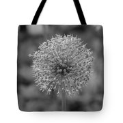 Black And White Flowers Tote Bag