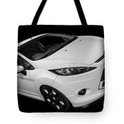 Black And White Ford Fiesta Tote Bag
