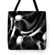 Black And White Fractal 080810a Tote Bag