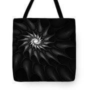 Black And White Fractal 080810c Tote Bag