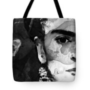 Black And White Frida Kahlo By Sharon Cummings Tote Bag