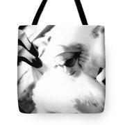 Black And White Girl  Tote Bag