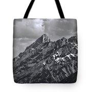 Black And White Grand Teton Detail Tote Bag