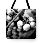 Black And White Grapes Tote Bag