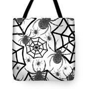 Black And White Halloween Tote Bag