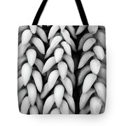 Black And White Hanging Plant Detail. Tote Bag