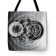 Black And White Healing Ripples Tote Bag