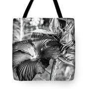Black And White Hibiscus Tote Bag