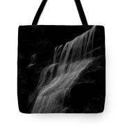 Black And White Hidden Falls Tote Bag