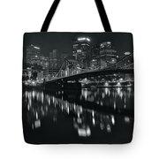 Black And White Lights Tote Bag