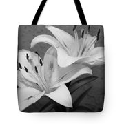 Black And White Lilies 1 Tote Bag