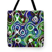 Black And White Lines Overlay Abstract Tote Bag