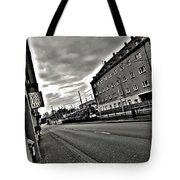Black And White Lonely Road Tote Bag