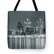 Black And White Louisville Tote Bag