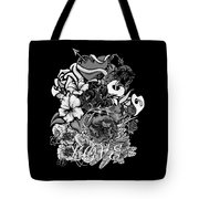 Black And White Love Bouquet Tote Bag