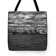 Black And White Mad Town Tote Bag
