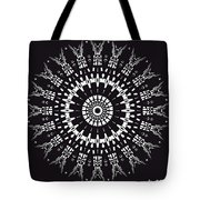 Black And White Mandala No. 1 Tote Bag