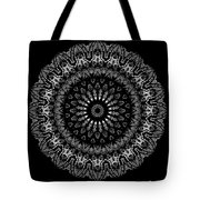 Black And White Mandala No. 2 Tote Bag