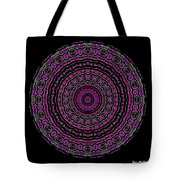 Black And White Mandala No. 3 In Color Tote Bag by Joy McKenzie