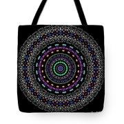 Black And White Mandala No. 4 In Color Tote Bag