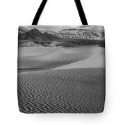 Black And White Mesquite Sand Dunes Tote Bag