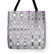 Black And White Metal Panel Abstract Tote Bag