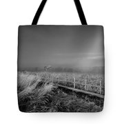 Black And White Misty Morning October Tote Bag