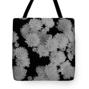 Black And White Mums Tote Bag