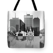 Black And White New Orleans Tote Bag