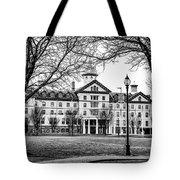 Black And White - Old Main - Widener University Tote Bag