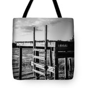 Black And White Old Time Dock Tote Bag